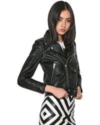 Saint Laurent Studded Nappa Leather Biker Jacket - Lyst