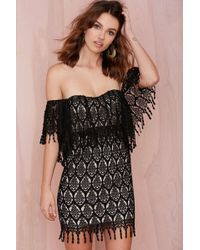 Nasty Gal Stone Cold Fox Iowa Lace Dress black - Lyst