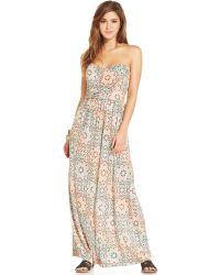 American Rag - Strapless Striped Maxi Dress - Lyst
