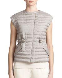 Brunello Cucinelli Tech Silk Puffer Vest - Lyst
