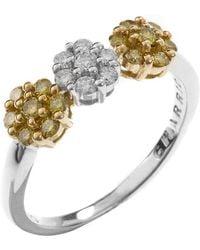 Charriol Women'S 18K White And Yellow Gold Diamond Ring - Lyst