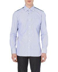 Junya Watanabe Tartanpanel Cotton Shirt Blue - Lyst