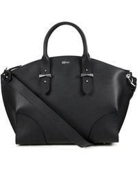 Alexander McQueen Legend Pebbled Leather Zip Satchel black - Lyst