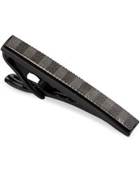 Kenneth Cole Reaction Black Chrome Tie Clip - Lyst