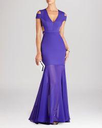 BCBGMAXAZRIA Bcbg Max Azria Gown  Ava Cutout - Lyst
