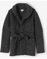 Engineered Garments Shawl Collar Knit Jacket - Lyst