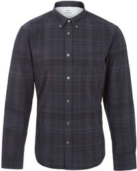 Acne Studios Grey Check Isherwood Cotton-blend Shirt - Lyst