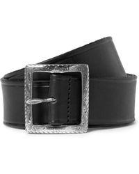 Saint Laurent Black 4Cm Leather Belt - Lyst