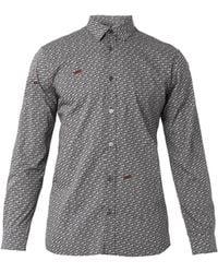 Moschino Freedomprint Cotton Shirt - Lyst
