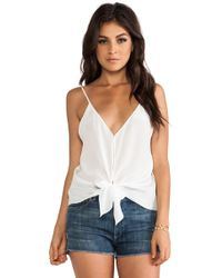Rory Beca - Sonnet Front Tie Cami - Lyst