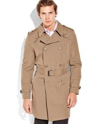 Tommy Hilfiger  Double Breasted Trench Coat - Lyst