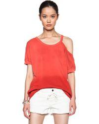 Pam & Gela Open Shoulder Sweatshirt - Lyst