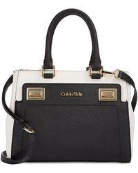 Calvin Klein Colorblocked Saffiano Leather Crossbody Bag - Lyst