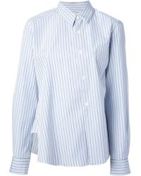 Comme Des Garçons Striped Shirt - Lyst