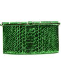 Zagliani Handbag green - Lyst