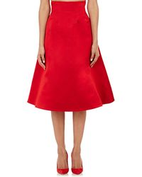 Katie Ermilio - Double-faced Satin A-line Skirt - Lyst