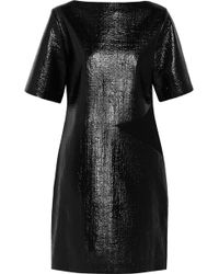 Roksanda Ilincic Coated Bouclã and Crepe Dress - Lyst