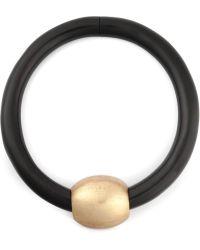 Monies Metallic Ball Detail Thin Necklace - Lyst