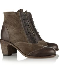 Fiorentini + Baker Lavin Paneled Leather and Suede Boots - Lyst