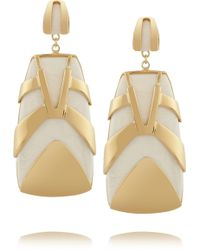 Maiyet Tiger Stripe Gold-plated Resin Earrings - Lyst