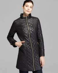 Via Spiga - Quilted Coat With Hood - Lyst