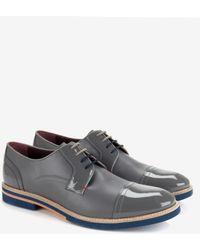 Ted Baker Textured Leather Derby Shoes - Lyst
