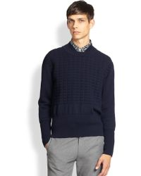Opening Ceremony Embossed Dual-neck Wool Sweater - Lyst