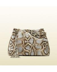 Gucci Soho Python Shoulder Bag - Lyst