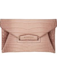 Givenchy Crocodile Small Antigona Envelope Clutch - Lyst