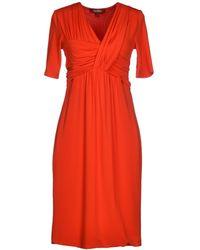 Max Mara Studio Short Dress orange - Lyst