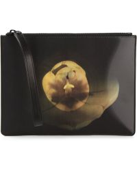 Christopher Kane Holographic Floral Print Clutch - Lyst