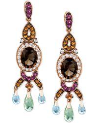 Le Vian Smokey Quartz And Multistone Oval Drop Earrings (7-3/4 Ct. T.W.) In 14K Rose Gold - Lyst