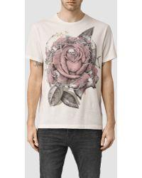 AllSaints | Hollywood Rose Crew T-shirt | Lyst