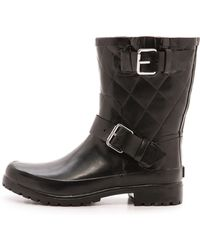 Sperry Top-Sider Falcon Quilted Rain Boots - Black - Lyst