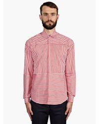 Jonathan Saunders Mens Contrast Stripe Cotton Shirt - Lyst