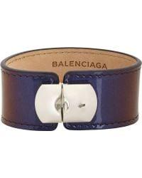 Balenciaga Blue Padlock Bracelet - Lyst