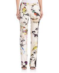 Roberto Cavalli   Silk Bird-print Pants   Lyst