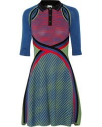 M Missoni Knitted Cotton Dress - Lyst