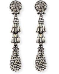 Jose & Maria Barrera | Crystal Deco Teardrop Earrings | Lyst