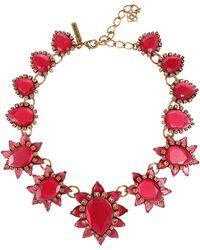 Oscar de la Renta Bold Pear Shape Jewel Necklace - Lyst