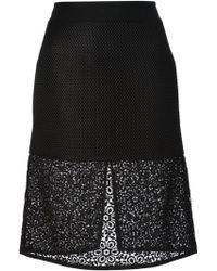 Emanuel Ungaro Mesh A-Line Skirt - Lyst