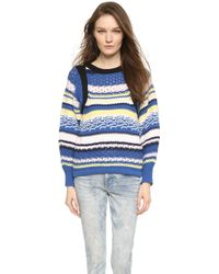 See By Chloé Striped Pullover Sweater - Multicolor - Lyst