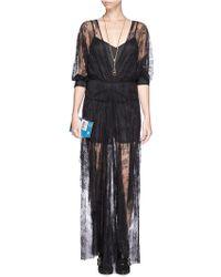Maje Gabriela Floral Lace Maxi Dress - Lyst