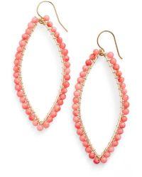 Ki-ele - 'lani' Drop Earrings - Coral - Lyst
