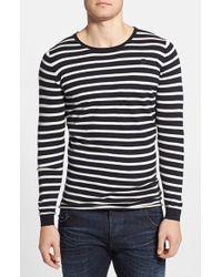G-Star RAW Men'S 'Meeflic' Stripe Crewneck Sweater - Lyst