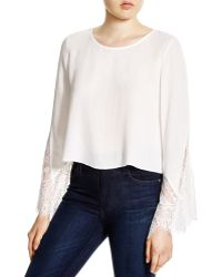 Alythea - Flared Lace Sleeve Top - Bloomingdale's Exclusive - Lyst