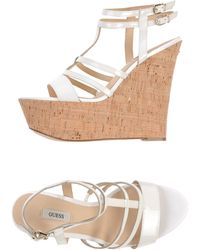 Guess Sandals white - Lyst