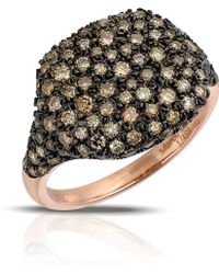 Marco Moore - 14k Rose Gold Cognac Diamond Dome Ring - Lyst