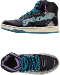 Geox Black Hightops  Trainers - Lyst