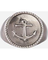 Simon Carter - Anchor Ring Exclusive To Asos - Lyst